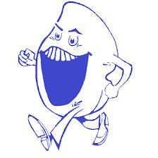 Lachende Klomp